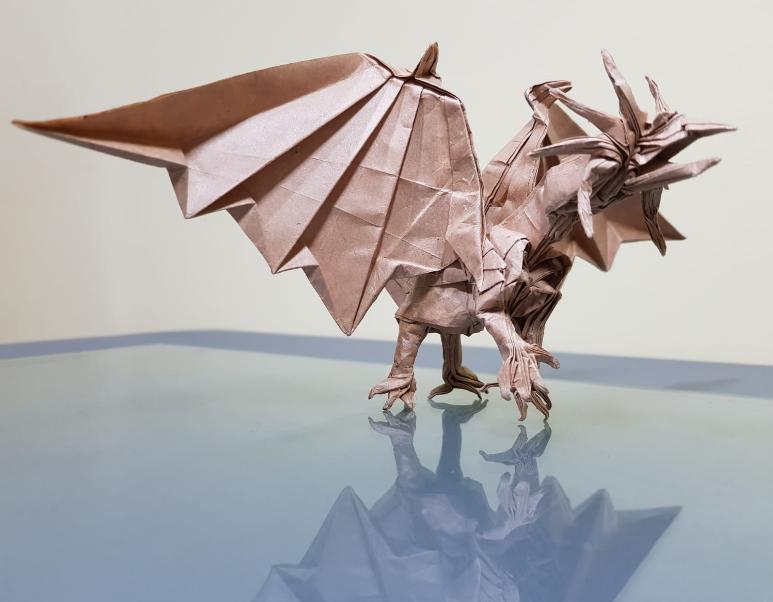 Ancient Dragon 2.0 by Satoshi Kamiya, folded by me : origami | 602x773
