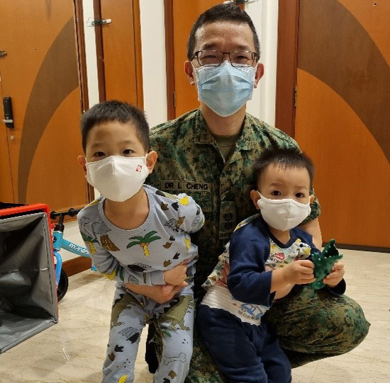 Another role for Radiologist Dr Lionel Cheng is as father to his boys.