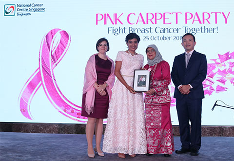 Pink party and portraits for breast cancer patients