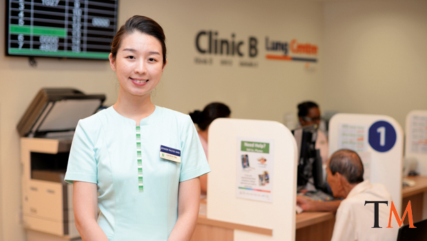 Advanced Practice Nurse Lim Wen Ting (above) provides assistance, reassurance and comfort at each stage of her patients' journey at the SingHealth Duke-NUS Lung Centre.