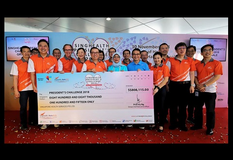Record amount raised by SingHealth for President's Challenge 2018