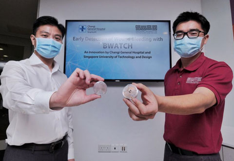 CGH and SUTD create warning sensor for early detection of wound bleeding
