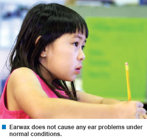 Earwax does not cause any ear problems under normal conditions - KKH