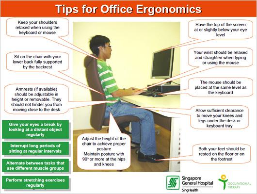 Tips for Office Ergonomics